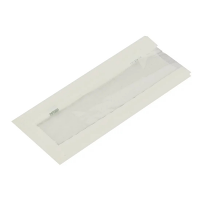 "Compostable Hot Food Bag White with Window - 4x6x10"" (Case 1000)"