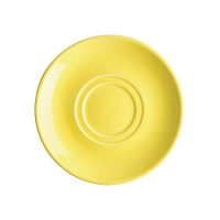 Olympia Heritage Yellow Double Well Saucer - (Box 6)