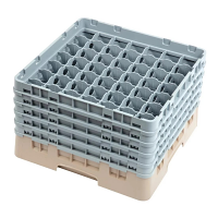Cambro Camrack Beige 49 Compartments Max Glass - Height 257mm