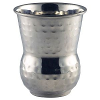 Moroccan Stainless Steel Hammered Tumbler 40cl/14oz