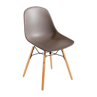Bolero PP Moulded SideChair (Coffee) with Spindle Legs (Pack 2)