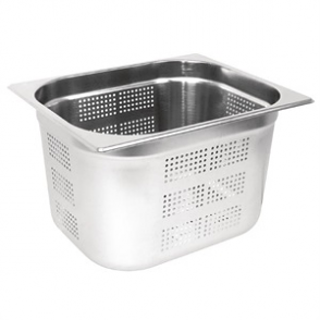 Vogue Stainless Steel Perforated GN 1/2 Pan 200mm