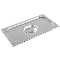 Vogue Stainless Steel 1/3 Gastronorm Lid