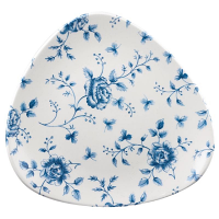 Churchill Vintage Prints Blue Rose Chintz Pattern Triangle Plate 9'' (12 Per Case)
