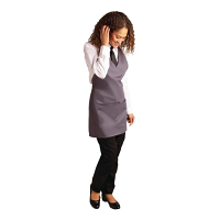Whites V Neck Service Apron - Charcoal