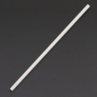 Biodegradable Paper Straws White 6mm box of 250