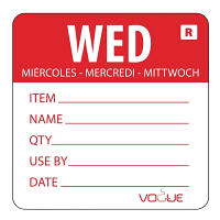Day of the Week Label (Pack of 500)