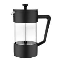 Olympia Cafetiere Black - 8 Cup 1Ltr