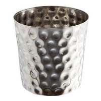 Hammered Stainless Steel Serving Cup 8.5 x 8.5cm