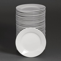 Special Offer - Athena Hotelware Wide Rimmed Plate 9 in Bulk Buy 36 Pack