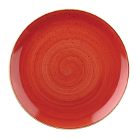 Churchill Stonecast Round Coupe Plate Berry Red 165mm