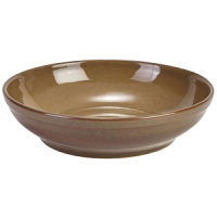 Terra Stoneware Rustic Brown Coupe Bowl 23cm