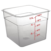 Polycarbonate Square Storage Container 5.5Ltr