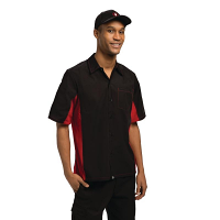 Colour by Chef Works Contrast Shirt - Black & Red