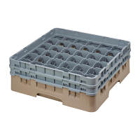 Cambro Camrack Beige 36 Compartments Max Glass Height 133mm