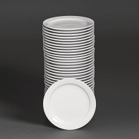 Special Offer - Athena Hotelware Narrow Rimmed Plates 6 1/2 in Bulk Buy 36 Pack