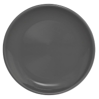 """Olympia Cafe Coupe Plate Charcoal - 250mm 10"""" (Box 6)"""