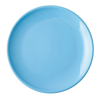 """Olympia Cafe Coupe Plate Blue - 250mm 10"""" (Box 6)"""