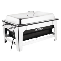 Olympia Electric Chafing Dish - 100mm deep pan with stand
