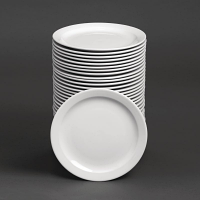 Special Offer - Athena Hotelware Narrow Rimmed Plates 9 in Bulk Buy 36 Pack
