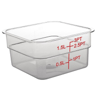 Polycarbonate Square Storage Container 1.5Ltr