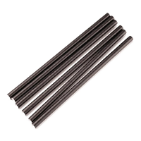 Biodegradable Cocktail Stirrer Straw Black 5.5'' pack of 250