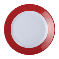 Kristallon Gala Colour Rim Melamine Plate Red 260mm