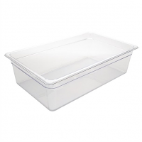 Vogue Polycarbonate 1/1 Gastronorm Container 150mm Clear