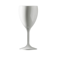 BBP Polycarbonate Wine Glass 312ml White