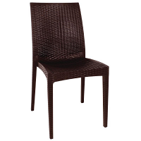 Bolero PP Rattan Bistro Sidechair (Pack of 4)