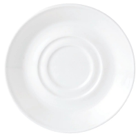 """Simplicity White Slimline Saucer/Soup Stand Double Well - 165mm 6 1/2"""" (Box 36)"""