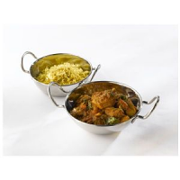 """Stainless Steel Balti Dish 13cm(5"""")With Handl"""