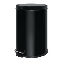 Black Stainless Steel Pedal Bin 20ltr