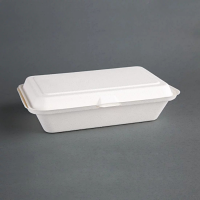 Compostable Hinged Container 64x161x248mm (pack 250)