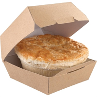 Colpac Compostable Kraft Burger Boxes Standard 108mm (Pack of 250)