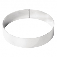 De Buyer Stainless Steel Mousse Ring 200mm x 45mm