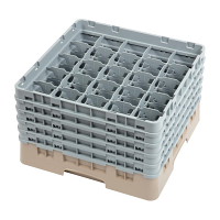 Cambro Camrack 25 Compartment Glass Rack Beige - Max Height 257mm