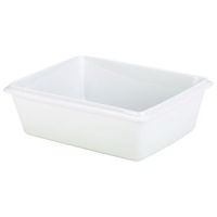 Royal Genware Gastronorm Dish 1/2 100mm White