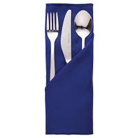 Traditions Polyester Napkins Blue Roslin