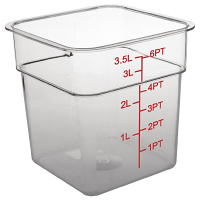 Polycarbonate Square Storage Container 3.5Ltr