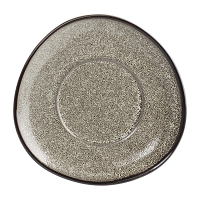 Olympia Mineral Triangular Cappuccino Saucer Grey Stone 150mm (Pack of 6)