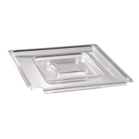 Float Square Cover Clear SAN - 250x250mm