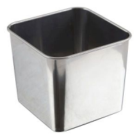 Stainless Steel Square Tub 8 x 8 x 6cm