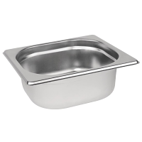 Stainless Steel Gastronorm Pan - 1/6 Size 65mm deep