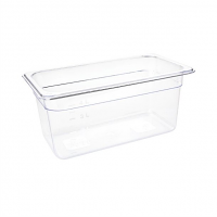 Vogue Polycarbonate 1/3 Gastronorm Container 150mm Clear