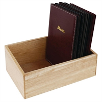 Olympia Wooden Menu Holder Box A4