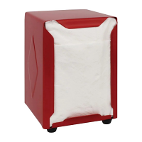 Olympia Napkin Dispenser Red - 140(h)x95(w)x105(d)mm
