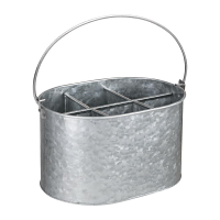 Olympia Galvanised Table Tidy - 135(h)x245(w)x175(d)mm