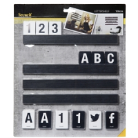 Letter Shelf 1m Black (Includes 169 Characters)