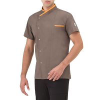 Giblor Jacopo Chef Jacket Short Sleeve Taupe